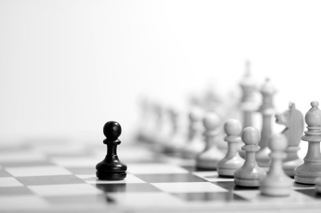 chess piece ahead of the game