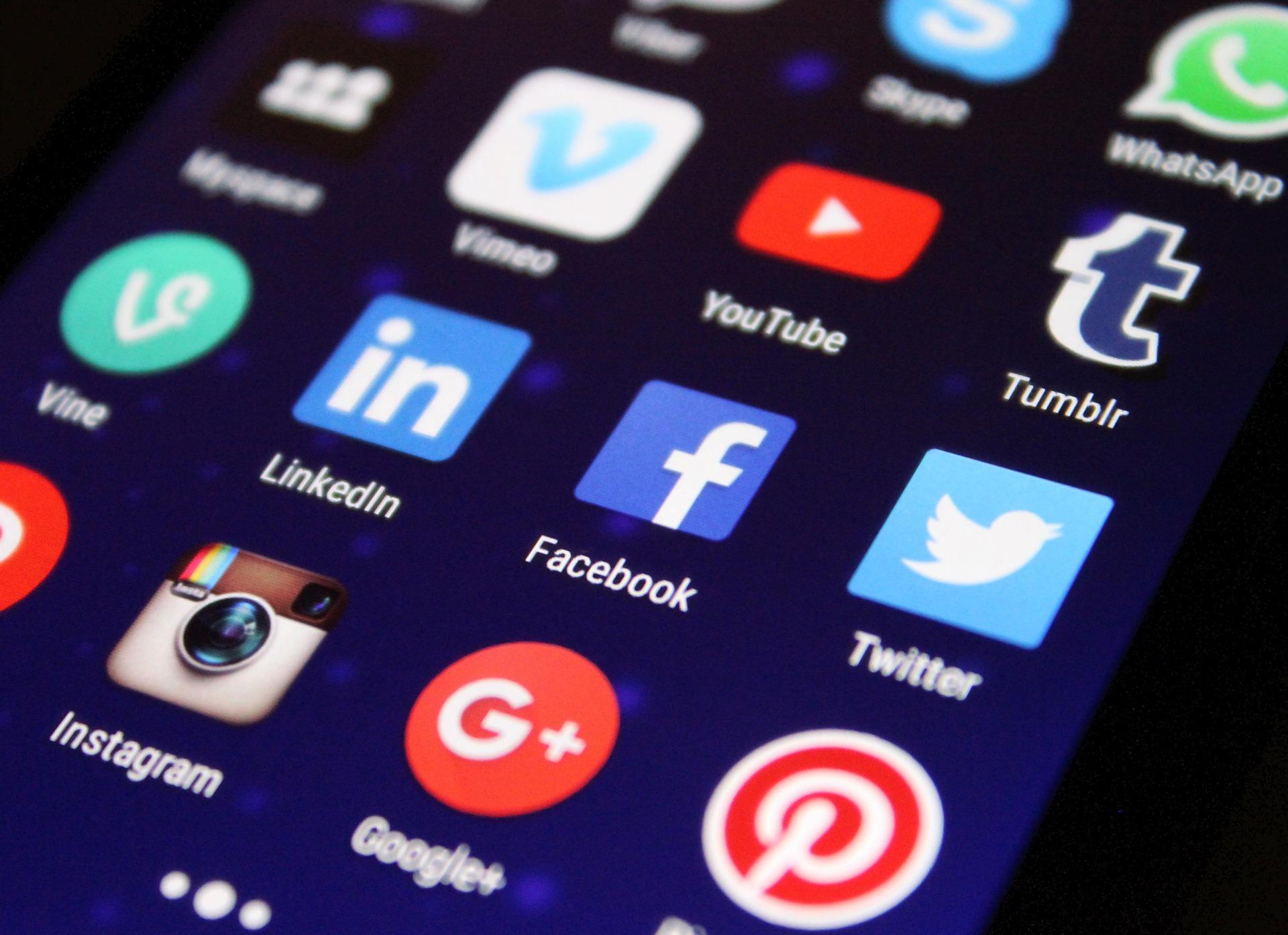 mosst popular social media icons