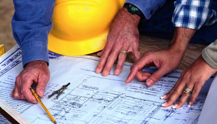 planners checking out details of a project